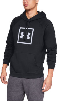 Under Armour RIVAL FLEECE LOGO Hoodie Herren schwarz