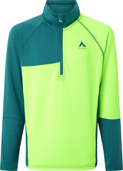 McKINLEY Vyla Fleece Langarmshirt mit Halfzip grün