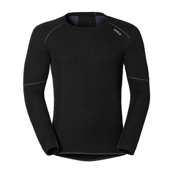 Odlo X-Warm L/S Shirt Unterhemd Herren schwarz