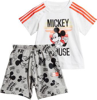 ADIDAS Disney Mickey Maus Sommer Set T-Shirt + Shorts Mädchen weiß