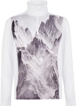 McKINLEY Daniston Langarmshirt mit Half Zip weiß