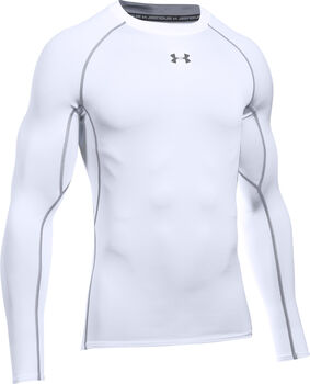 Under Armour HeatGear® Kompressions-Langarmshirt Herren weiß