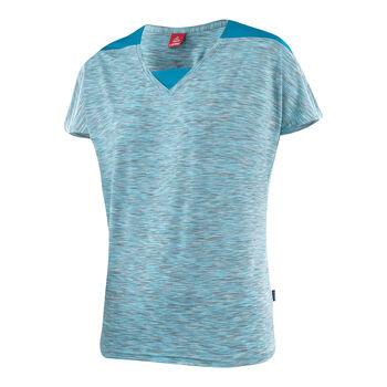 Löffler Da. V-Shirt kurzarm Damen blau