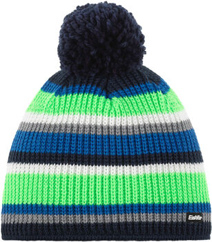Eisbär Clip Pompon Mütze blau