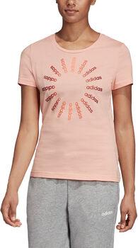 ADIDAS Circled Graphic T-Shirt Damen pink