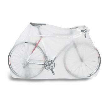 Cytec Regenschutzhülle für Fahrrad weiß