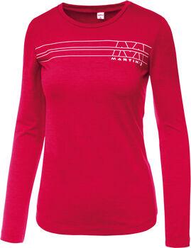 MARTINI Solid Langarmshirt Damen pink