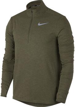 Nike Nk Sphr Elmnt Top Langarm Laufshirt Herren grün