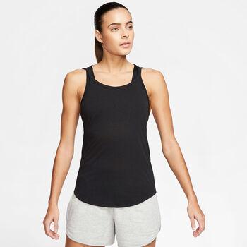 Nike Yoga Strappy Tanktop Damen schwarz