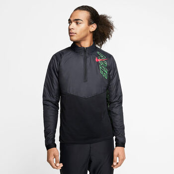 Nike Element Langarmshirt Herren schwarz