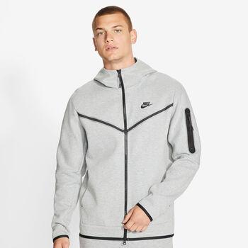 Nike  M Nsw Tch Flc HoodieHr. Kapuzenjacke Herren grau