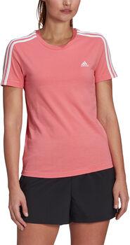 adidas Loungewear Essentials Slim 3-Streifen T-Shirt Damen rot