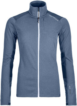 ORTOVOX Fleece Light Grid Fleecejacke Damen blau
