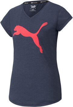 Puma Favourite Heather Cat Trainings-T-Shirt Damen blau