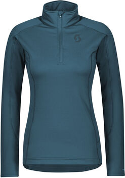 SCOTT Defined Light Langarmshirt mit Halfzip Damen grün