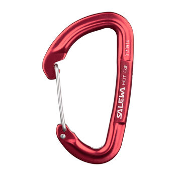 Salewa Hot G3 wire Schnappkarabiner rot