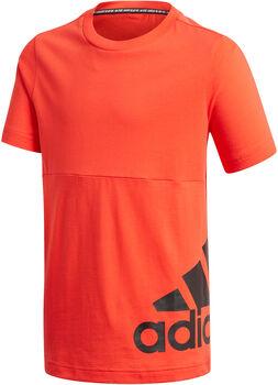 adidas Must Haves Big Logo T-Shirt Jungen rot