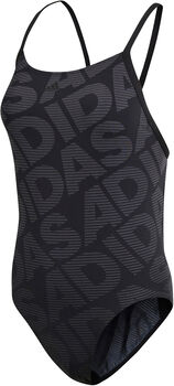 ADIDAS Allover Print Badeanzug Damen schwarz