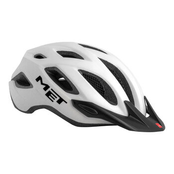 MET Crossover Fahrradhelm weiß