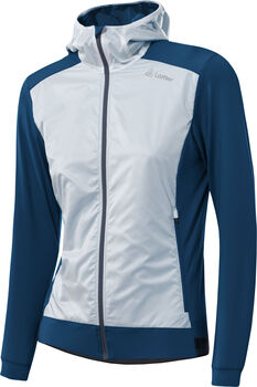 LÖFFLER Hooded Light Hybridjacke Damen blau