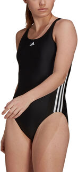 adidas SH3.RO Classic 3-Streifen Badeanzug Damen schwarz