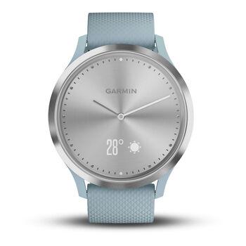 Garmin vivomove HR Sport Hybrid-Smartwatch cremefarben
