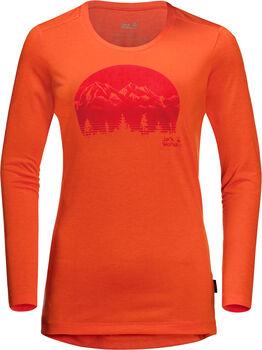 Jack Wolfskin Crosstrail Graphic Langarmshirt Damen orange