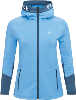 Peak Performance Rider Hoodie mit Zip Damen blau
