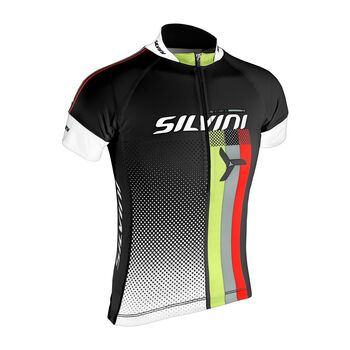 Silvini Team CD842k Radtrikot mit Halfzip schwarz