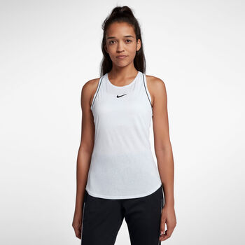 Nike ct Dry Tennisshirt Damen weiß