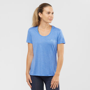 Salomon Agile T-Shirt  Damen blau