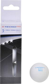 TECNOPRO 3* 3-er Pack Tischtennisbälle  weiß