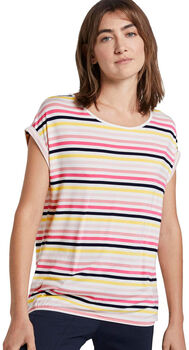 TOM TAILOR Striped Crew-Ne. Damen cremefarben