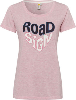 Roadsign T-Shirt Damen pink