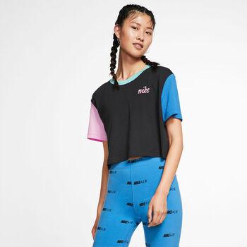 Nike Sportswear Cropped T-Shirt Damen schwarz