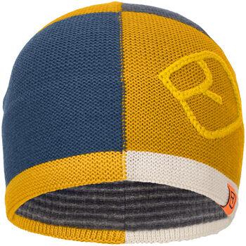 ORTOVOX Patchwork Mütze gelb