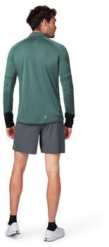 On Weather T-Shirt mit Zipp Herren grün