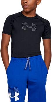 Under Armour Heatgear Shortsleeve T-Shirt Jungen schwarz