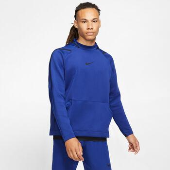 Nike Pro Hoodie Herren blau
