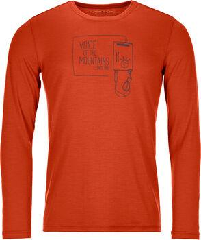ORTOVOX 185 Merino F2 Langarmshirt Herren orange