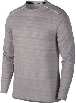 Nike Dry Miler Langarmshirt Herren grau