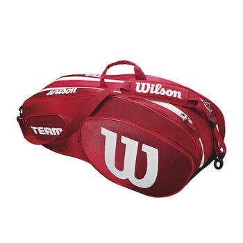 Wilson TEAM III 6er Tennistasche rot