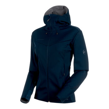 MAMMUT Ultimate V Softshell Jacke Damen blau