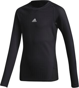 adidas Alphaskin Langarmshirt Jungen schwarz