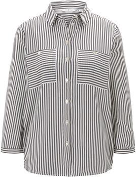 TOM TAILOR  Printed StripeDa. Bluse Damen grau