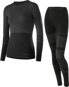 LÖFFLER Unterwäschenset Transtex® Warm Hybrid Damen schwarz
