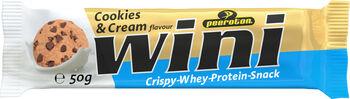Peeroton Cookies & Cream Wini Crispy-Whey-Protein Riegel weiß