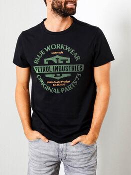 Petrol T-Shirt SS R-Neck Herren schwarz