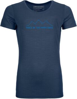 ORTOVOX 150 Cool Pixel Voice T-Shirt Damen blau