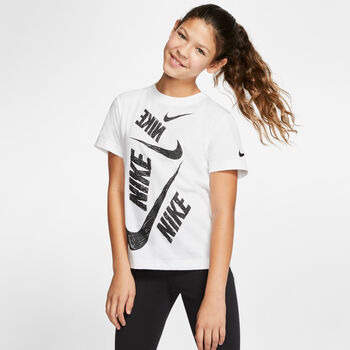 Nike Sportswear Swoosh T-Shirt Mädchen weiß